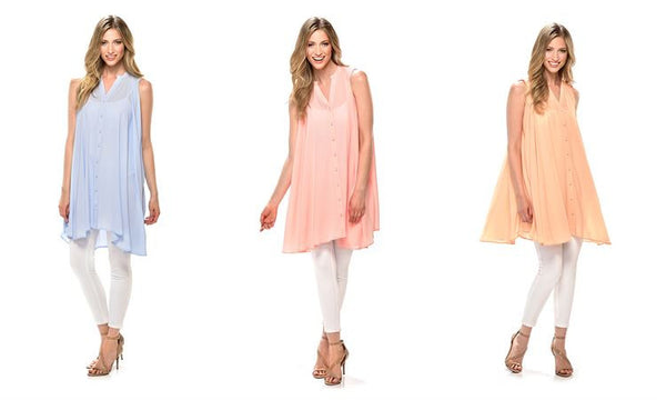 Just The Beginning Tunic Top - Your Dream Boutique