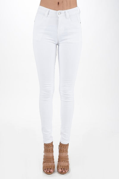 Standing Tall White Skinny Jeans