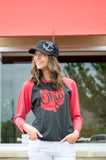 Ohio State Glitter Baseball Tee - Your Dream Boutique