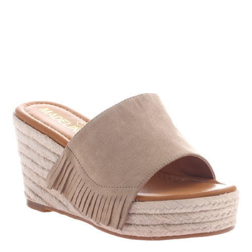 Dashed Taupe Wedge - Your Dream Boutique