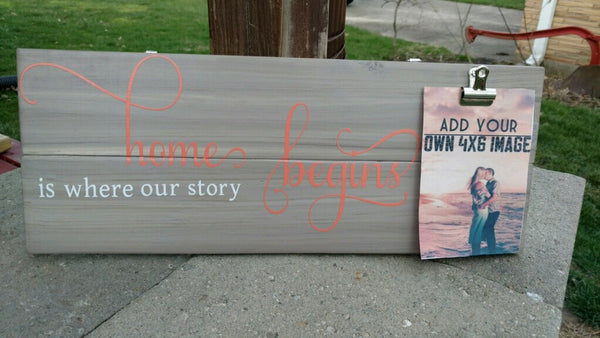 Home Is where our story begins Wooden Sign - Your Dream Boutique