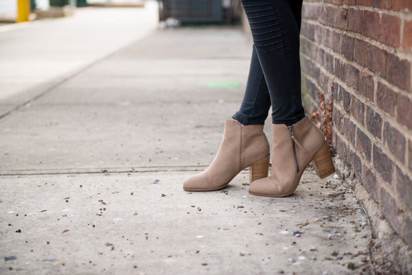 Go Go Taupe Booties