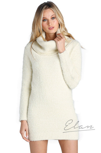 Instant Romance Cream Sweater Dress