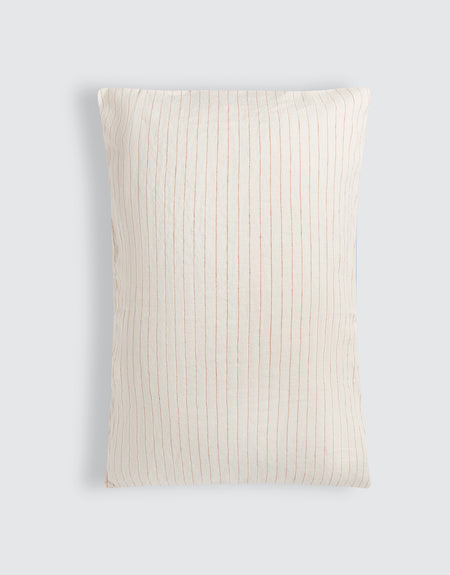Pillow slip set - Red pinstripe | Deiji Studios