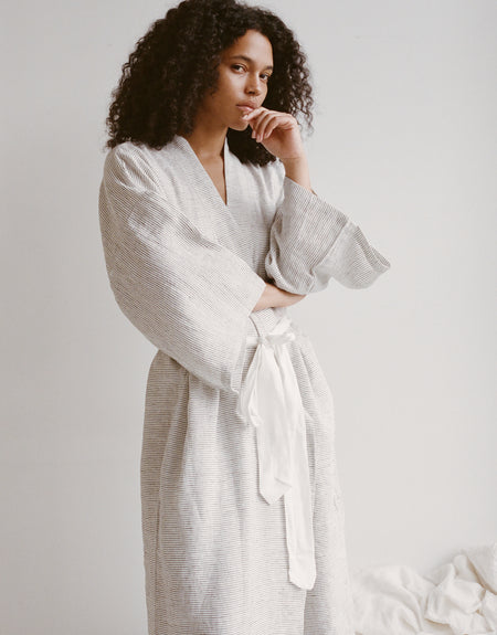 the 02 robe - pinstripe | Deiji Studios