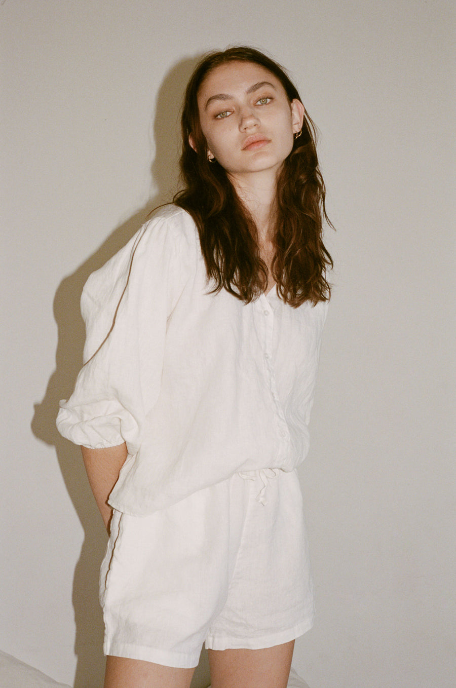 soft linen blouse - white