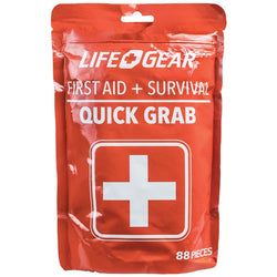 88-Piece Quick Grab First Aid & Survival Kit