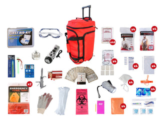 4 Person Elite Survival Kit - Wheel Bag