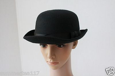 Black Bowler Hat Charlie Chaplin Posh Gentlemen Costume Day of the Dead  G1330 1ab8594fde7