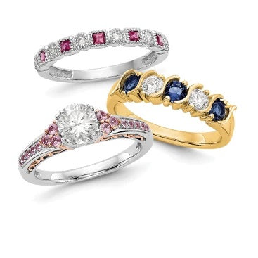 Gemstone & Diamond Bands