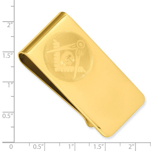 Gold-plated Kelly Waters Masonic Money Clip