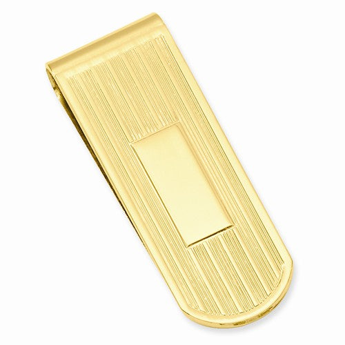 Gold-plated Kelly Waters Etched Lines Money Clip