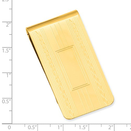 Gold-plated Kelly Waters Patterned Edge Money Clip