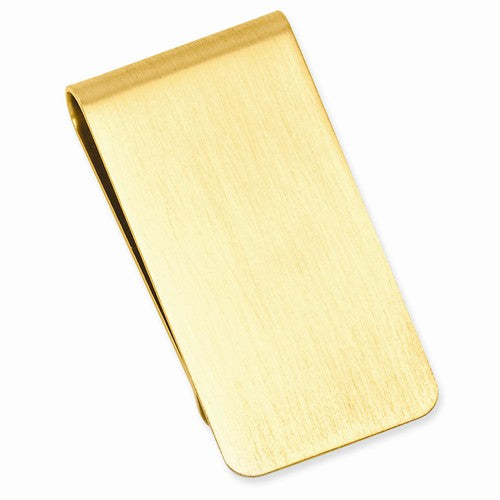 Gold-plated Kelly Waters Satin Rectangle Money Clip