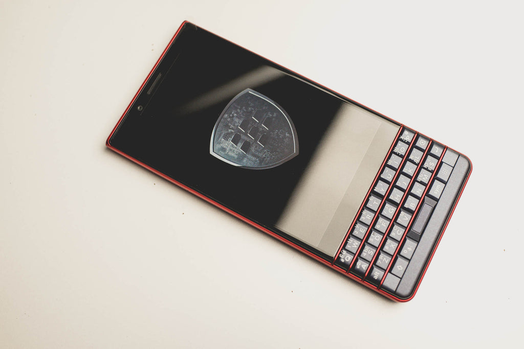 BlackBerry key2le atomic red красный