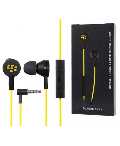 WS-510 Premium Headset 3.5mm премиум гарнитура - BlackBerry Russia,  BlackBerry