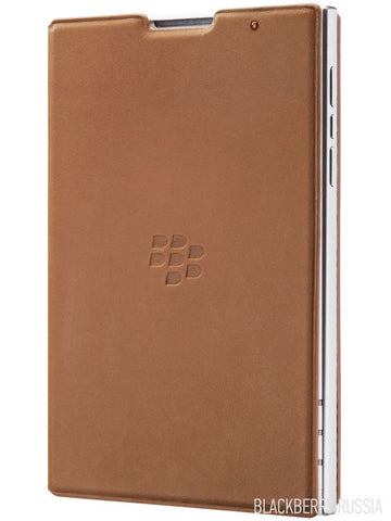 Чехол Passport Leather Flip Case коричневый - BlackBerry Russia,  BlackBerry