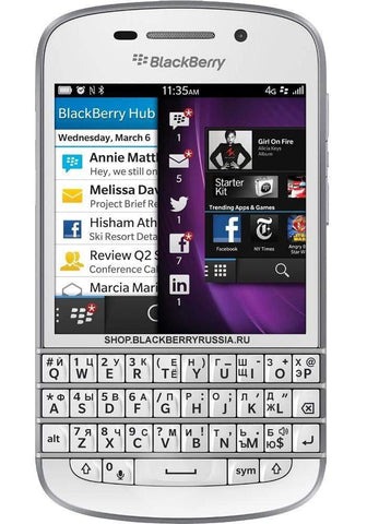 Q10 LTE 4G белый - BlackBerry Russia,  BlackBerry