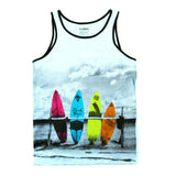 Colorful Surfboard Tank Top