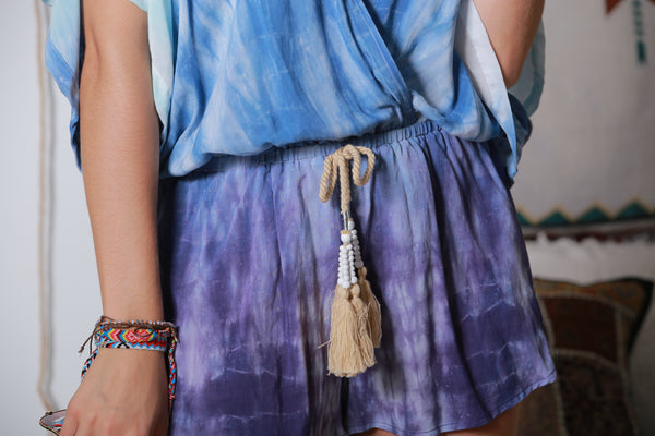 Tie-dyed Short Skirt