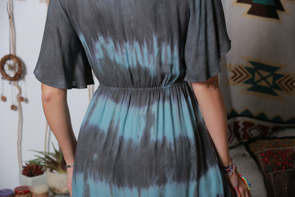 Multi Tie-dyed  Dress