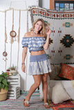 Denim Tie-dyed Short Skirt