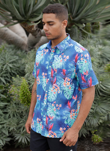 Tropical Floral Button Up