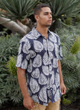 Tropic Palm Leaf Button Up