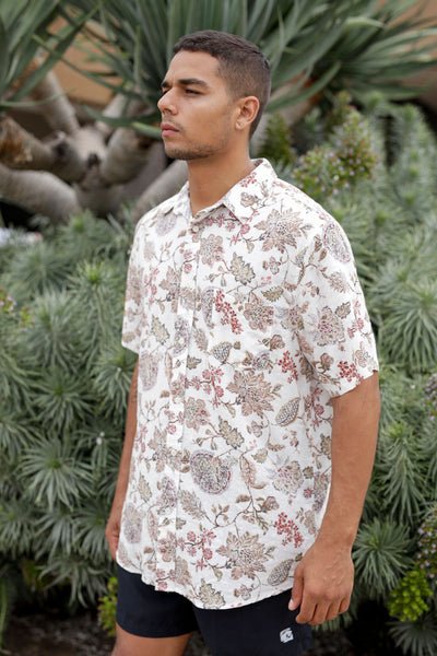 Floral Tropic Button Up