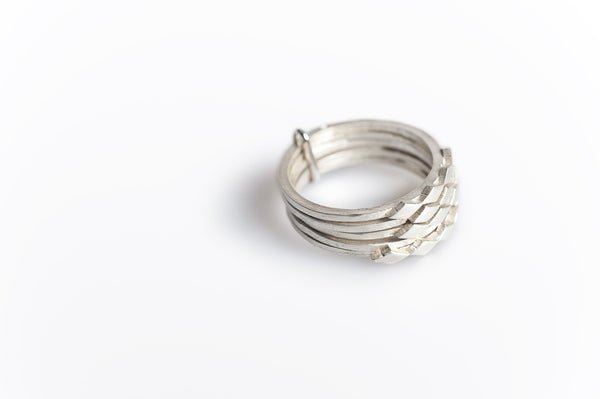 Links Ring 08 Silver