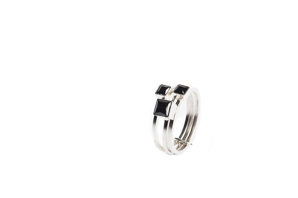 Maison Mosaic Ring 03 Silver