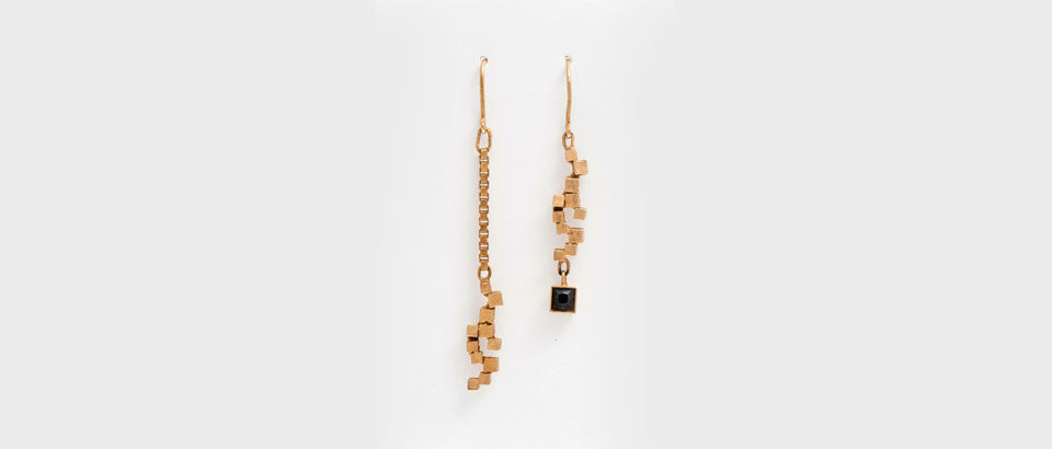 Maison Mosaic Earring 07 Gold Plated Silver