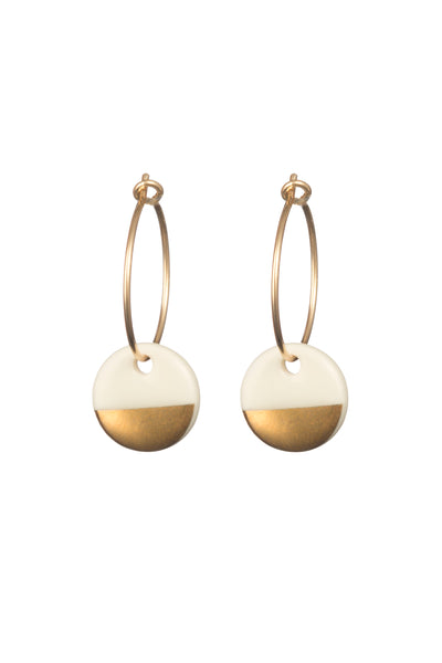 Porcelain Gold Dipped Earrings