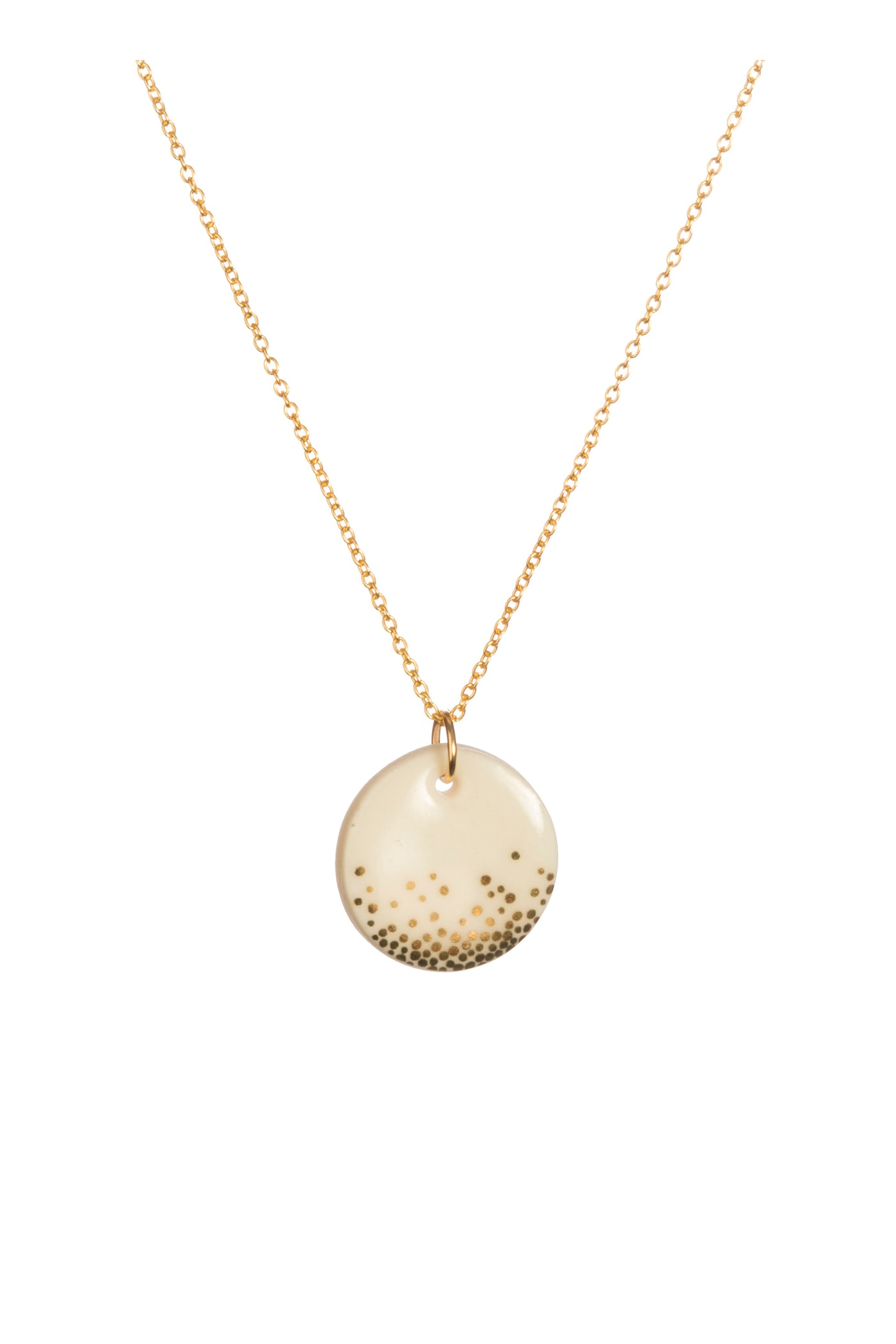 Porcelain Gold Mist Necklace
