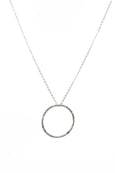Silver Hammered Hoop Necklace - Out of stock. Pre-order for delivery end of Feb