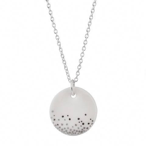 Porcelain Silver Mist Necklace