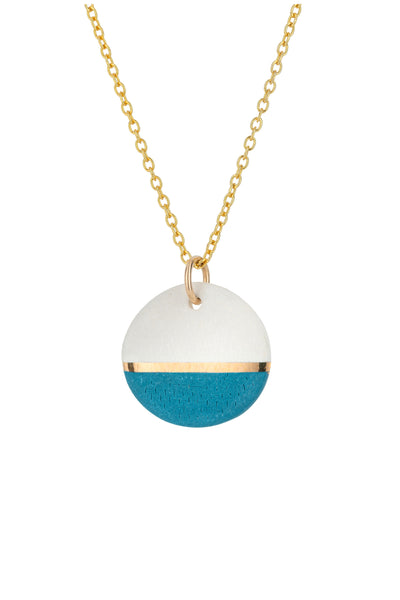 Porcelain Teal Dipped Necklace