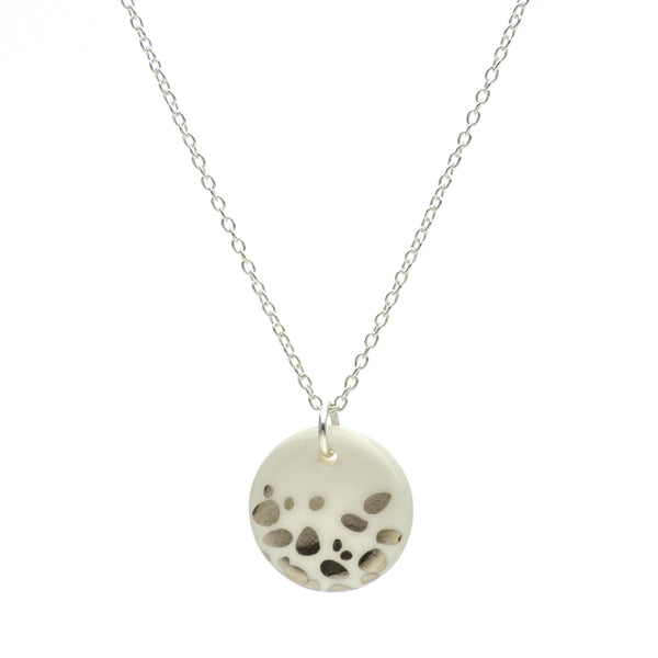 Porcelain Silver Haze Necklace