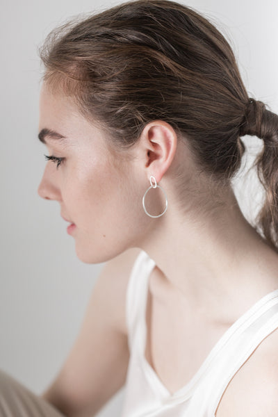 Silver Halo Earrings - Back in Stock Soon