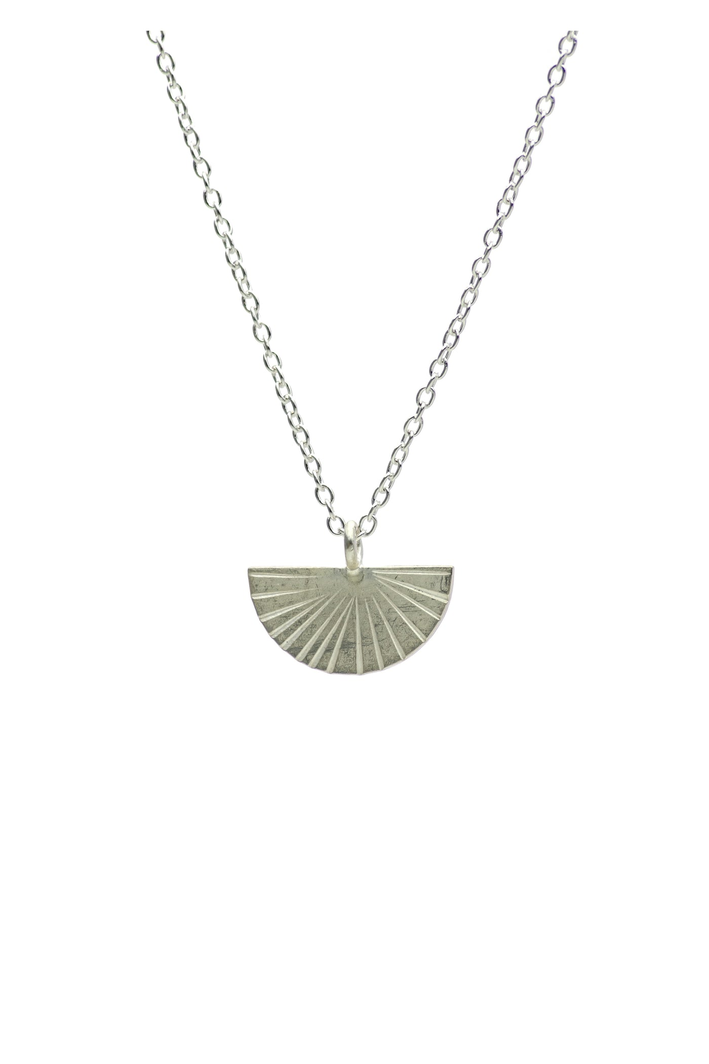 Silver Fan Necklace