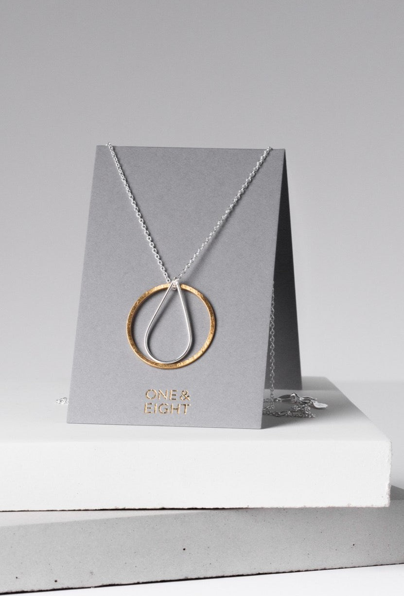 Silver and Gold Celeste Necklace