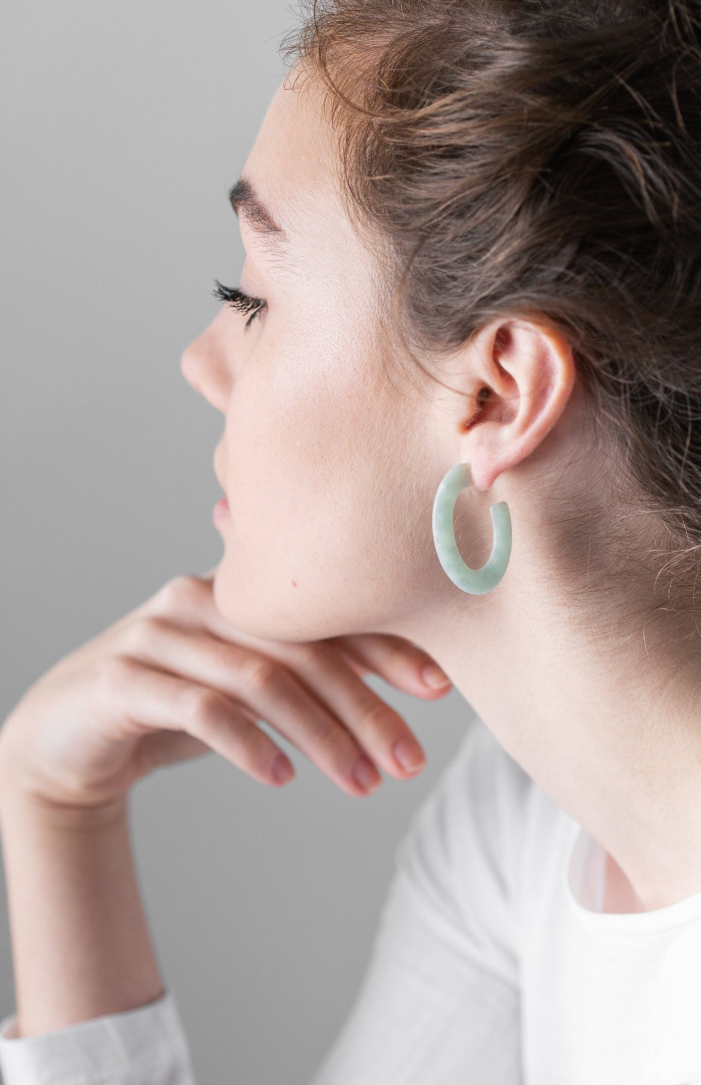 Mint Loop Eco Resin Earrings