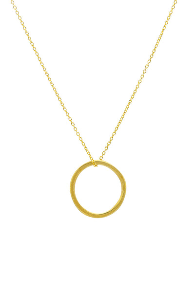 Gold Misshapen Hoop Necklace