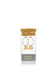 Gold Brushed Heart Earrings
