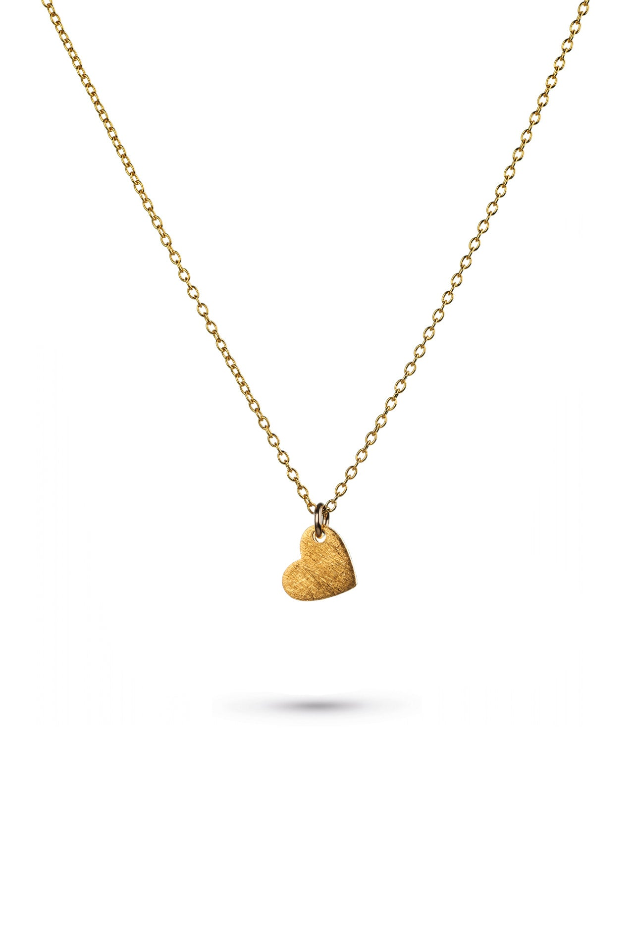 Gold Brushed Heart Necklace