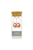 Porcelain Bronze Double Disc Gold Earrings