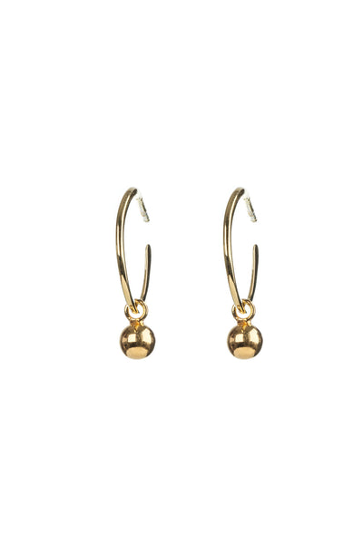 Gold Ball Hoop Studs