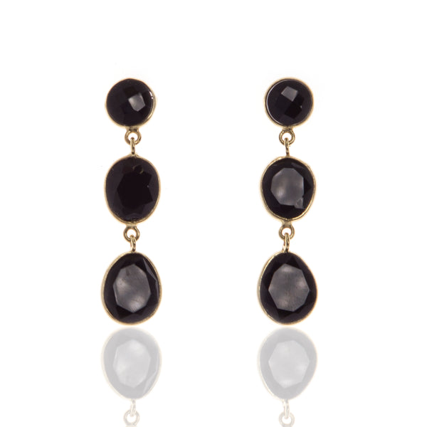 Anastasia Black Onyx Earrings