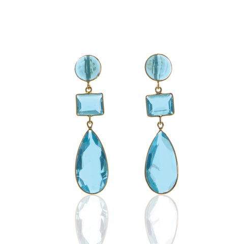 Megan Blue Quartz Earrings