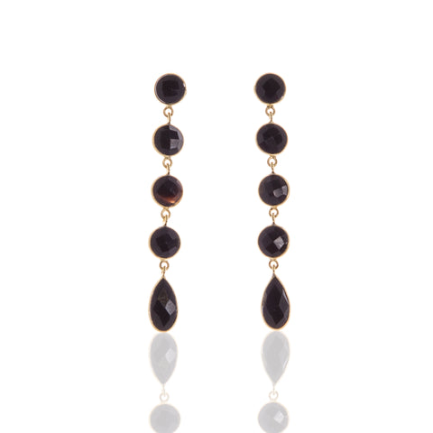 Melanie Black Onyx Earrings